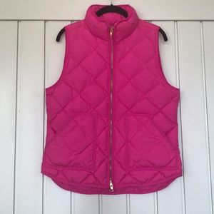 Pink jcrew vest